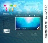eps10 vector website design... | Shutterstock .eps vector #62264647