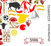 spain background design.... | Shutterstock .eps vector #622648931