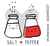 Cute Cartoon Salt And Pepper