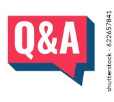 q   a or question and answer.... | Shutterstock .eps vector #622657841