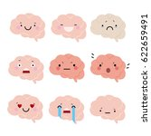 brain set of emotions | Shutterstock .eps vector #622659491