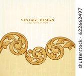 vintage baroque victorian frame ... | Shutterstock .eps vector #622662497