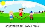 children jump rope | Shutterstock . vector #62267011