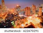blue hour shot of a busy... | Shutterstock . vector #622670291