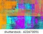 hand painted  abstract... | Shutterstock . vector #622673051