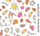 breakfast patches badges ... | Shutterstock .eps vector #622676699
