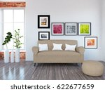white interior design of a room ... | Shutterstock . vector #622677659