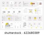 website template elements with... | Shutterstock .eps vector #622680389