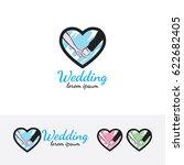 wedding  vector logo template | Shutterstock .eps vector #622682405