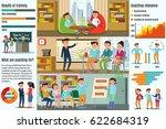coaching infographic horizontal ...   Shutterstock .eps vector #622684319