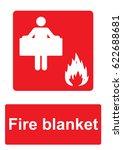 red fire equipment sign... | Shutterstock .eps vector #622688681