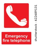 red fire equipment sign... | Shutterstock .eps vector #622689131