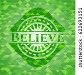 believe green mosaic emblem | Shutterstock .eps vector #622693151