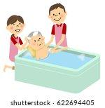 elderly people to take a bath ... | Shutterstock .eps vector #622694405