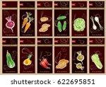 vegetable seeds packets... | Shutterstock .eps vector #622695851