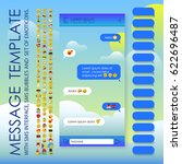 message template with sms...   Shutterstock .eps vector #622696487
