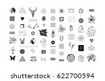 set of different elements and... | Shutterstock .eps vector #622700594