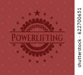 powerlifting retro style red... | Shutterstock .eps vector #622700651