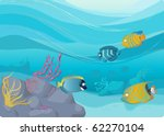 Coral Reef Vector Illustration...