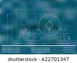 mechanical drawings.... | Shutterstock .eps vector #622701347