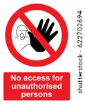 red prohibition sign isolated... | Shutterstock .eps vector #622702694