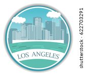down town american landscape...   Shutterstock .eps vector #622703291