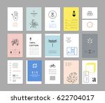 collection of universal cards.... | Shutterstock .eps vector #622704017