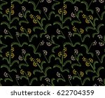 dark floral pattern with simple ... | Shutterstock .eps vector #622704359