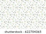 simple floral pattern. tiny... | Shutterstock .eps vector #622704365