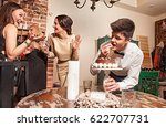 youth which is cheerfully... | Shutterstock . vector #622707731