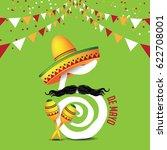cinco de mayo icon design for... | Shutterstock .eps vector #622708001