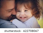 father with the baby | Shutterstock . vector #622708067