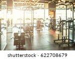 sport club gym interior blurred ... | Shutterstock . vector #622708679