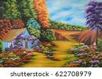 beautiful oil paint scenery of