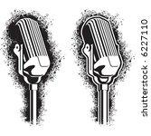 Vintage Microphone  Stencil...