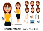 pack of body parts and emotions.... | Shutterstock .eps vector #622718111