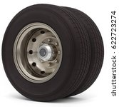 3d Truck Wheel And Tire On...