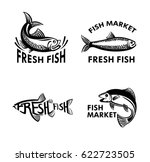 fish logo for fish market.... | Shutterstock .eps vector #622723505