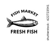 fish logo for fish market.... | Shutterstock .eps vector #622723541