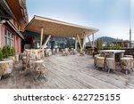 mountain hotel exterior | Shutterstock . vector #622725155