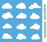 cloud icons. vector flat design ... | Shutterstock .eps vector #622725959