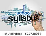 syllabus word cloud concept on... | Shutterstock . vector #622728059