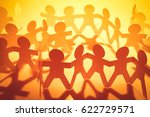 team of paper doll people | Shutterstock . vector #622729571