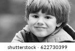 outdoor portrait of cute young... | Shutterstock . vector #622730399