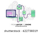 from laptop to phone.... | Shutterstock .eps vector #622738319