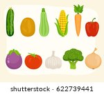 vegetables set | Shutterstock .eps vector #622739441