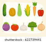vegetables set | Shutterstock .eps vector #622739441