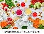 variation of healthy vegan... | Shutterstock . vector #622741175