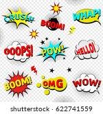 comics cloud with boom  oops ... | Shutterstock .eps vector #622741559