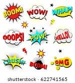 comics cloud with boom  oops ... | Shutterstock .eps vector #622741565